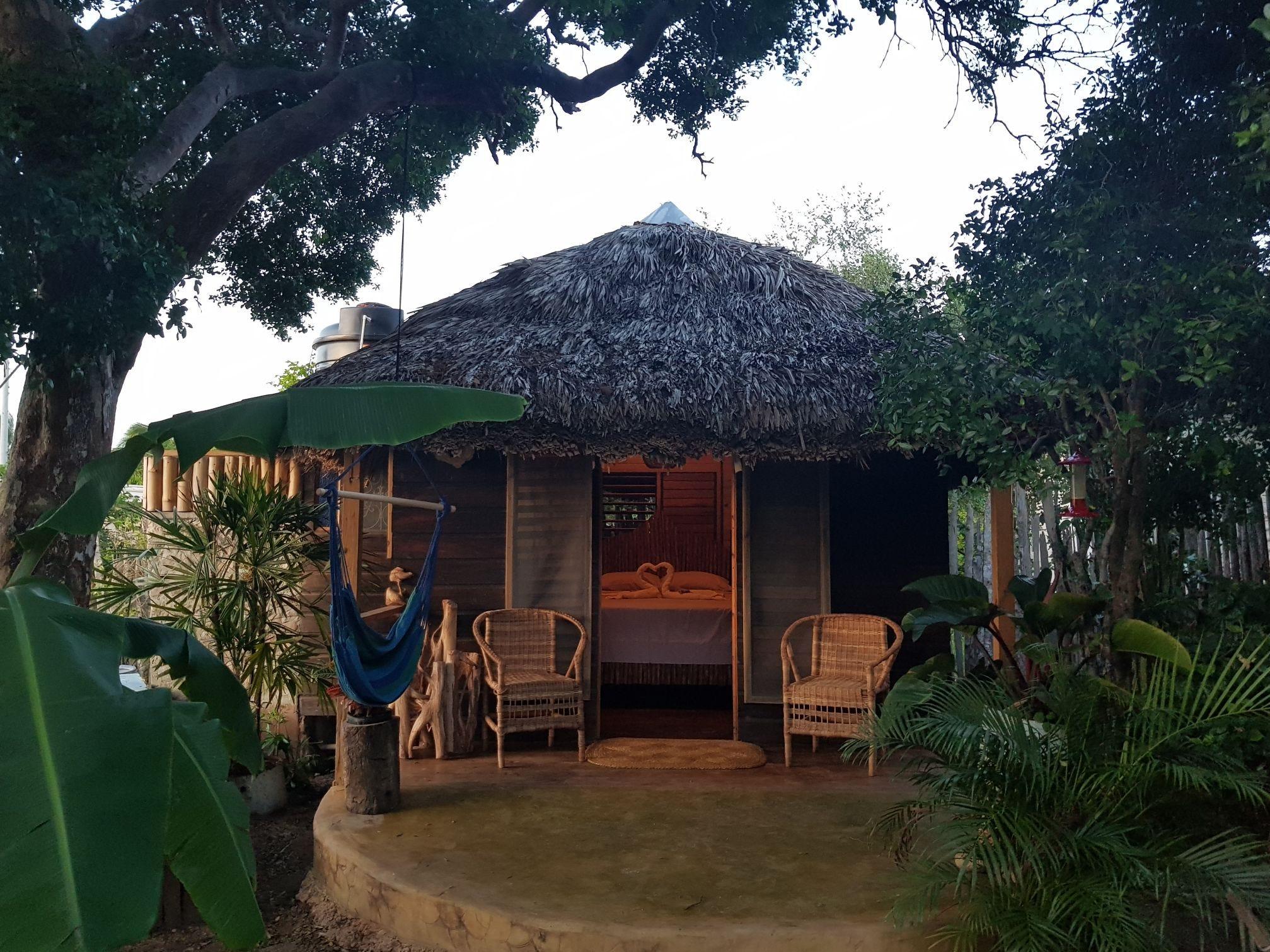 Exterior look at cabin in Jamaica