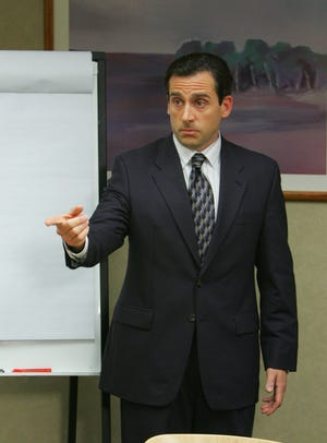 "Steve Carell starred as Michael Scott in the comedy ""The Office."""