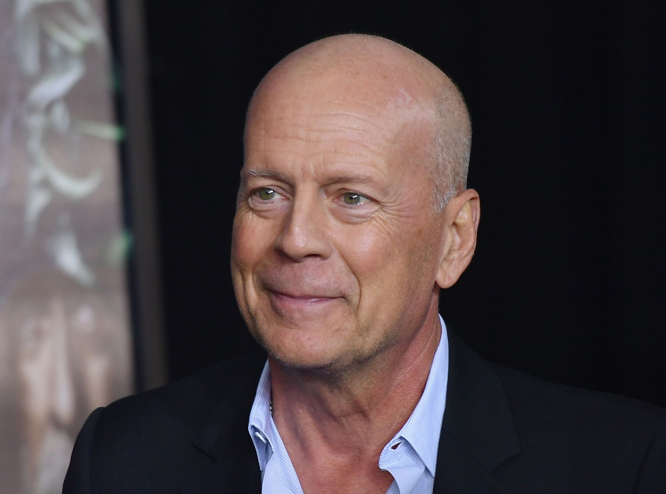 "Actor Bruce Willis attends the premiere of Universal Pictures' ""Glass"" at SVA Theatre on January 15, 2019 in New York City. (Photo by Angela Weiss / AFP)ANGELA WEISS/AFP/Getty Images ORIG FILE ID: AFP_1CA0B4"