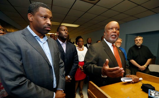 Rep. Bennie Thompson, D-Miss., speaks in Jackson, Miss., on Aug. 24, 2016, at NAACP state headquarters in Jackson. Thompson, now chairman of the House Homeland Security Committee, is trying to compel Department of Homeland Security Secretary Kirstjen Nielsen to testify before his committee.