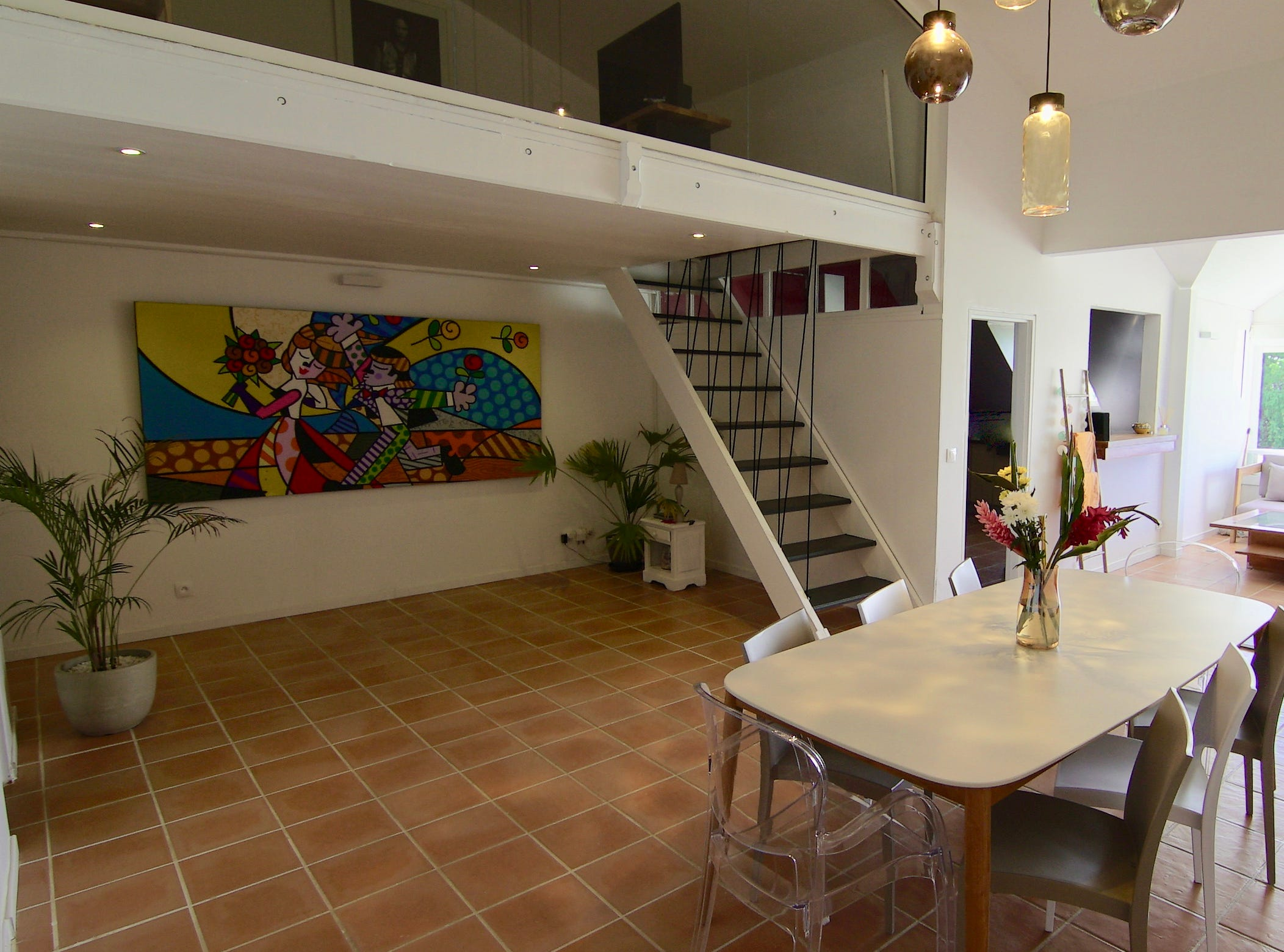 A look inside the sea view apartment in Guadeloupe