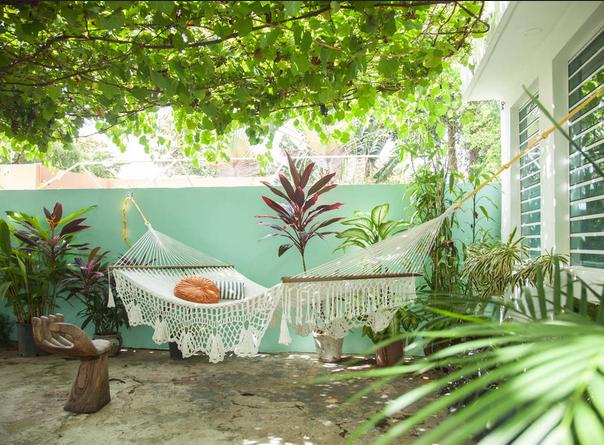 A hammock at the apartment in San Juan