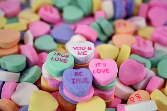 Candy sweet hearts for Valentine's Day