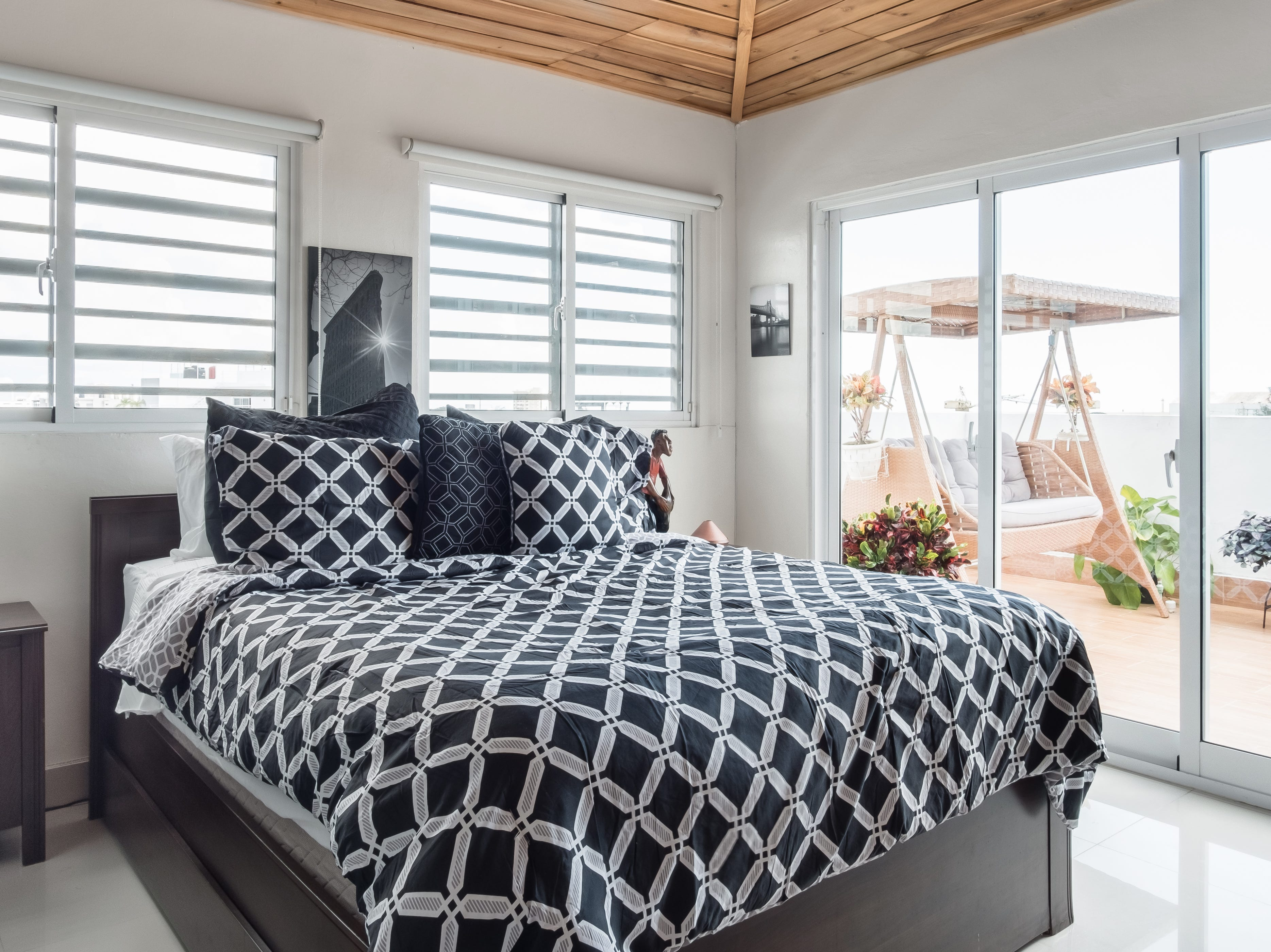 A bedroom at the apartment in Santo Domingo in the Dominican Republic