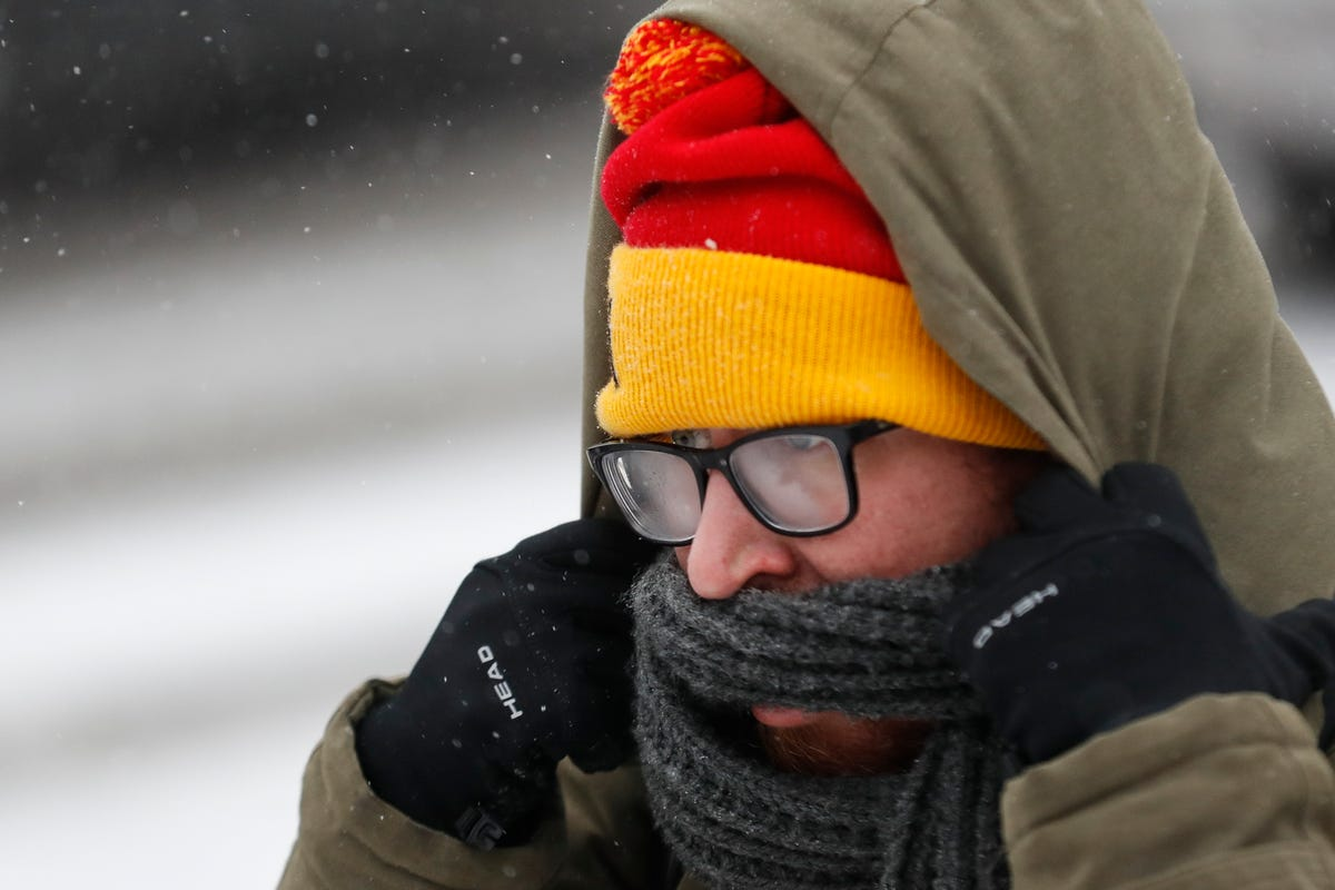Polar vortex brings extreme cold, as documented by social