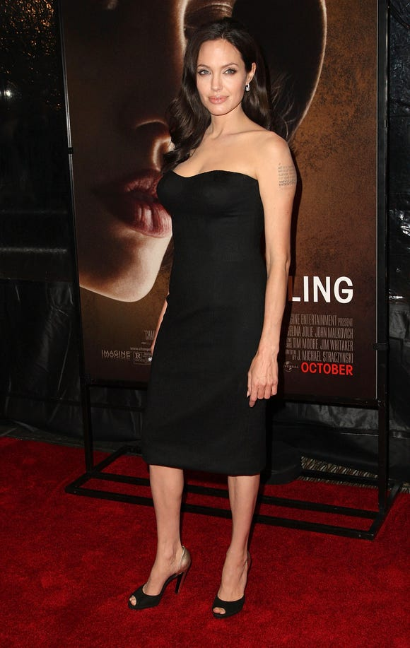 Angelina Jolie's Billy Bob Thornton-inspired tattoo has been geographically altered.