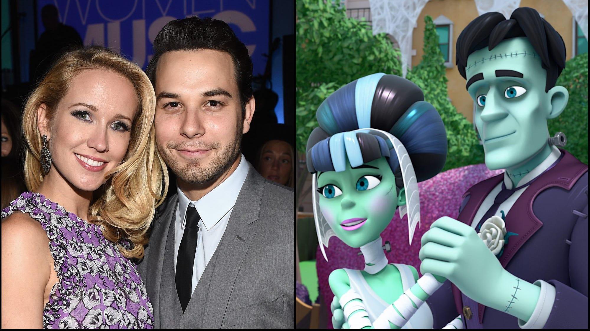 Sneak peek: 'Pitch Perfect' couple Anna Camp and Skylar Astin on Disney's 'Vampirina'