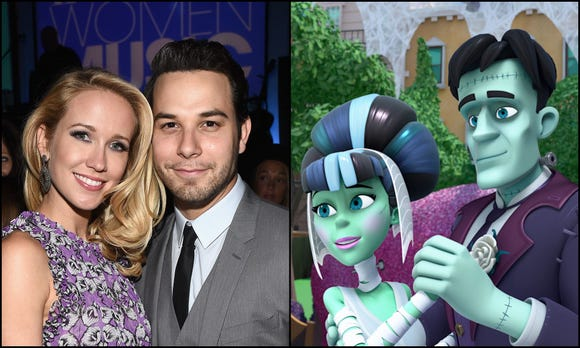 """Actors Anna Camp and Skylar Astin (stars of """"Pitch Perfect"""") will guest star on Disney's """"Vampirina"""" as the voices of Frankenstein and Bride of Frankenstein."""