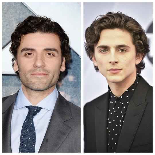 "Timothee, I'm your father. Oscar Isaac will be Timothee Chalamet's screen dad in ""Dune."""