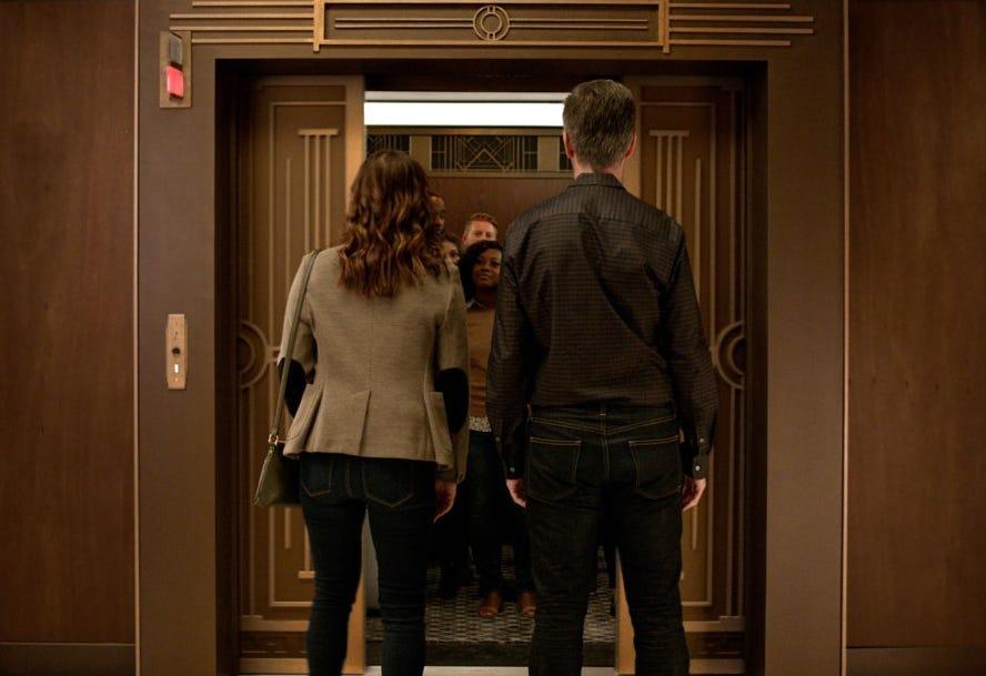 Jason Bateman stars as a funny elevator operator in Hyundai's Super Bowl commercial.