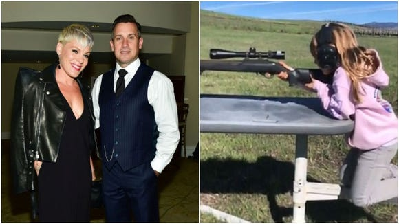 "Carey Hart decided to call out the ""parent police"" before they criticized him in a video of his daughter on Instagram shooting a 22 rifle."