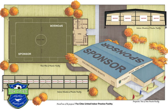 Fox Cities United Soccer Club has launched a campaign to raise $1 million for the construction of an indoor practice facility at the Greenville Sports Complex.