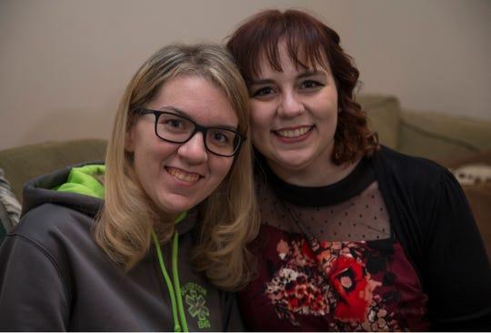 Megan Franzoso, left with sister Michele Franzoso