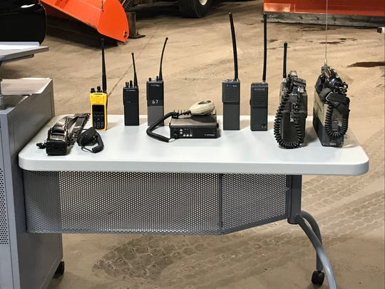 Old radios used by first responders in Broome County