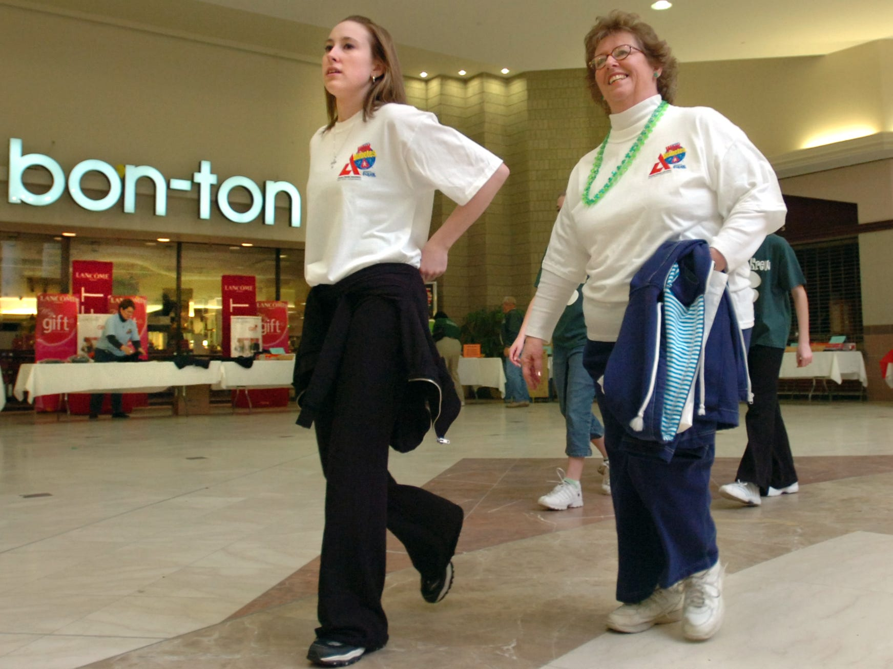 Participants in American Diabetes Association's annual event, America's Walk for Diabetes, make their way through the Oakdale Mall in Johnson City the morning of March 12, 2006. Proceeds from the event benefit the American Diabetes Association.