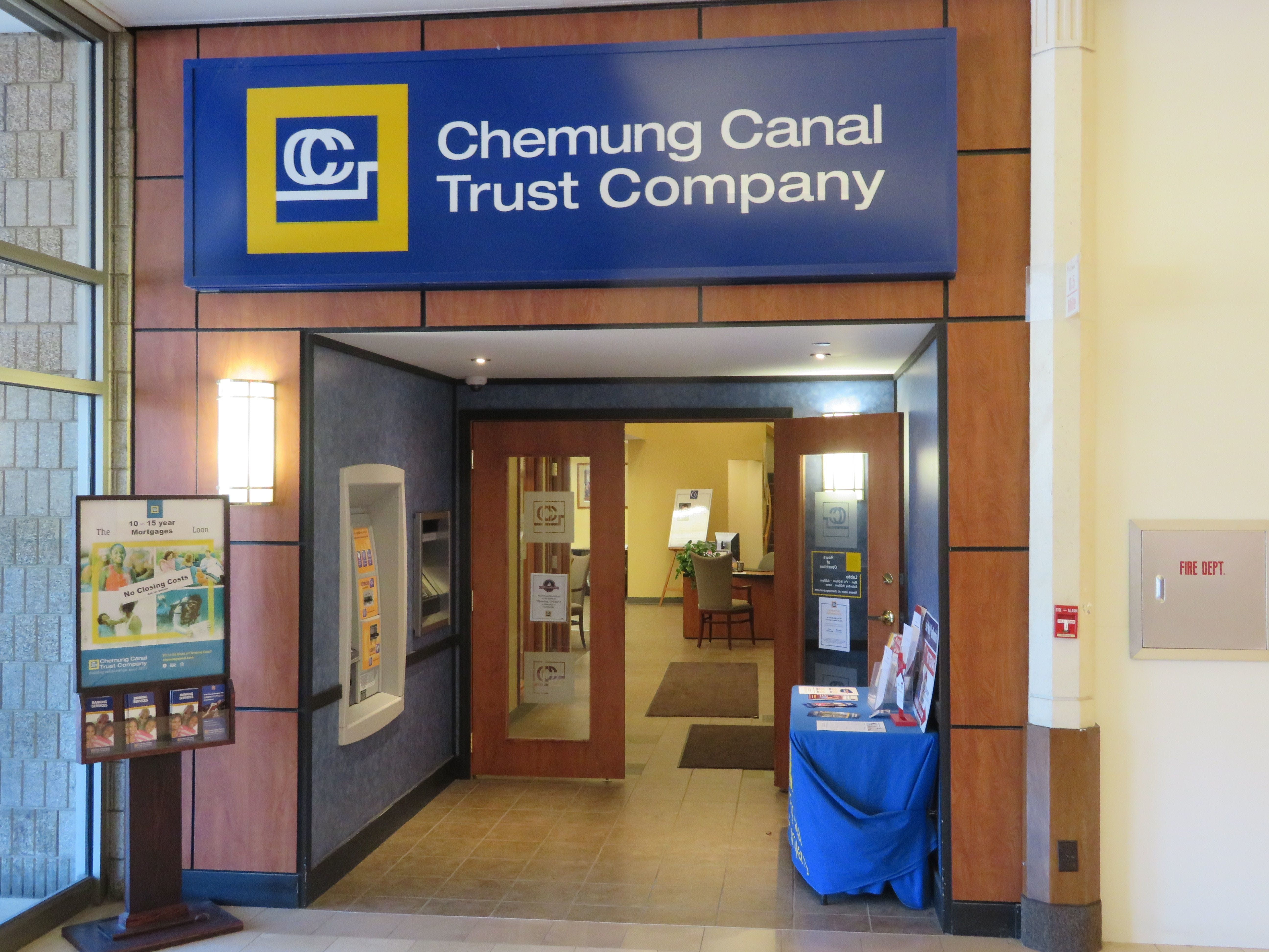 Chemung Canal Trust will closed its Oakdale Mall location on Jan. 18, 2019.