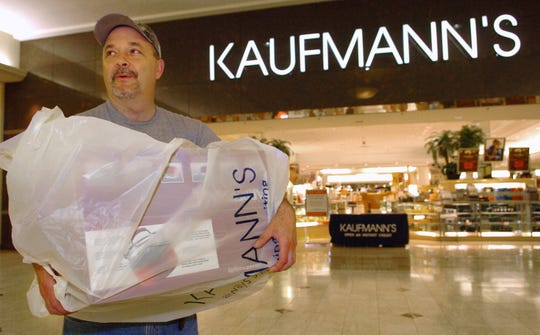 Thomas Buchman Jr. of Port Crane shopped at Kaufmannàs in the Oakdale Mall in August of 2005. He said that he hope a Macy's would help the economy for the area when the New York City department store chain replaces Kaufmann's.