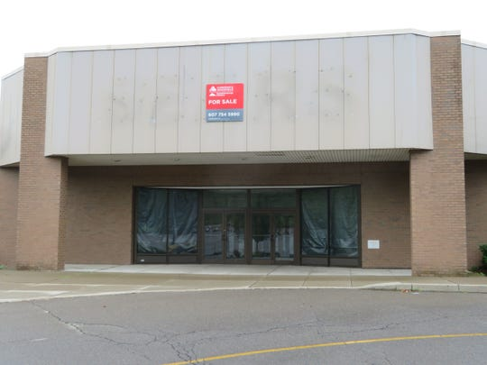 The main entry at the former Sears store at Johnson City's Oakdale Mall, pictured in July of 2018.