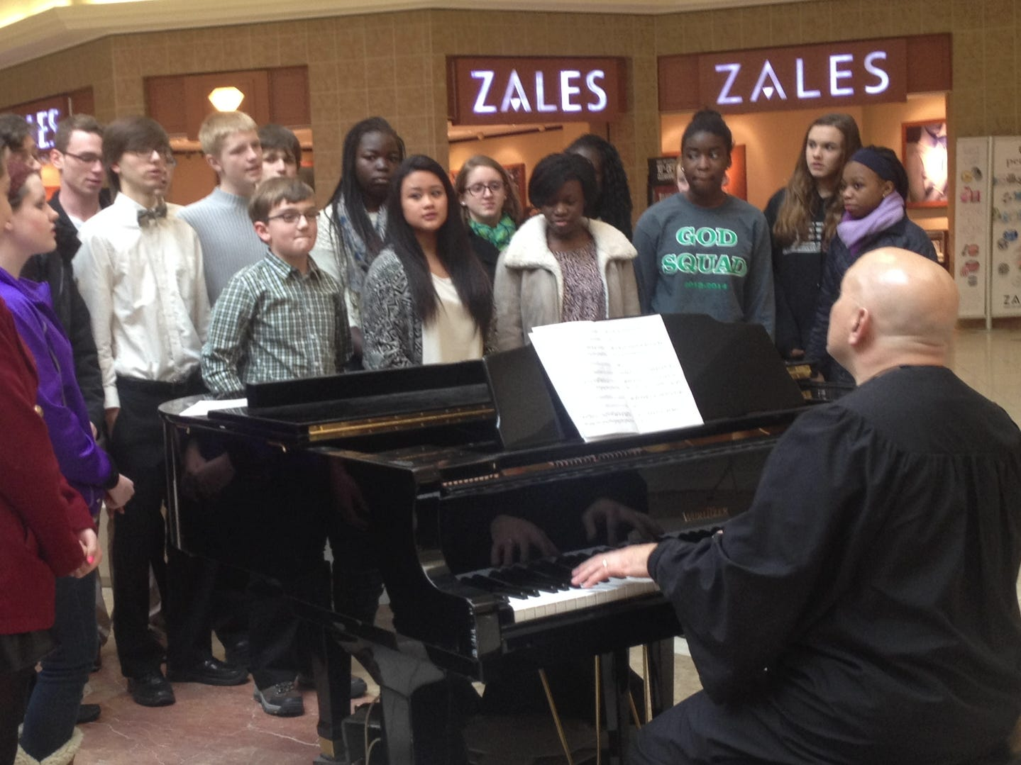 A group of students from Seton Catholic Central sang inside the Oakdale Mall on Sunday, in honor of Catholic Schools Week in January of 2014.