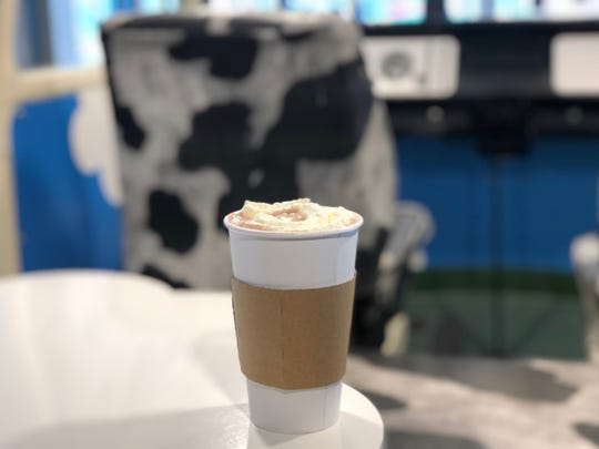 Ben & Jerry's offers customers a chance to add an ice cream flavor of their choice to hot chocolate. Jan. 25, 2019.