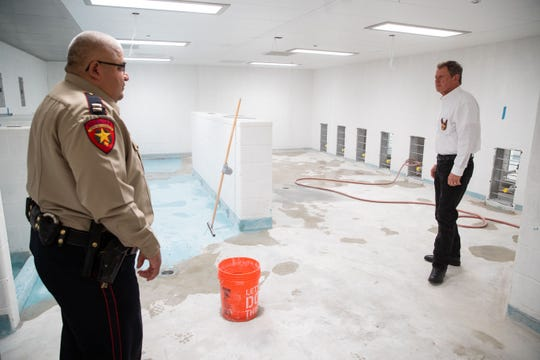 Nueces County Sheriff J.C. Hooper tours the McKinzie jail annex renovation on Tuesday, Jan. 29, 2019.