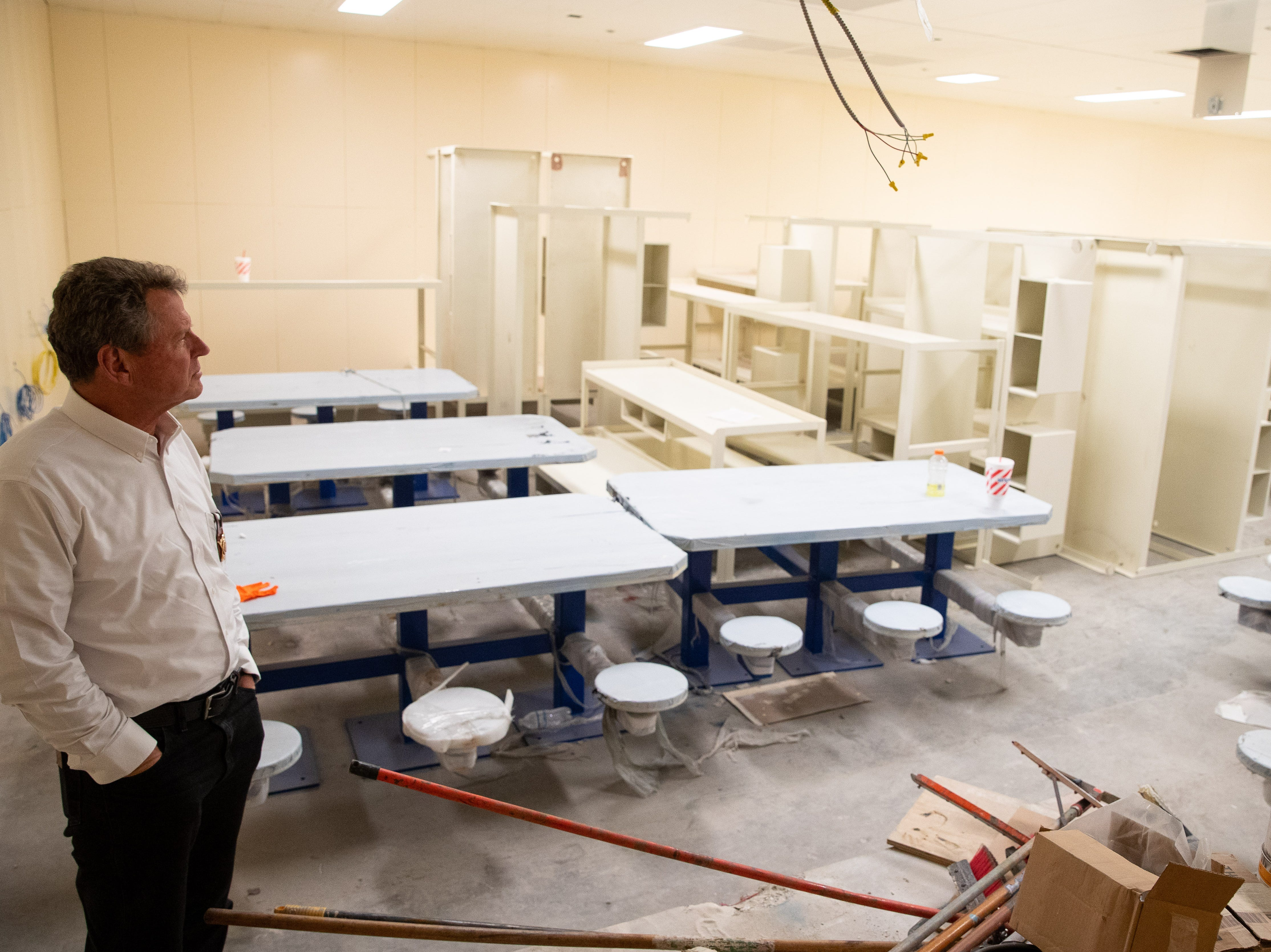Nueces County Sheriff J.C. Hooper tours the Mckinzie jail annex renovation on Tuesday, Jan. 29, 2019.