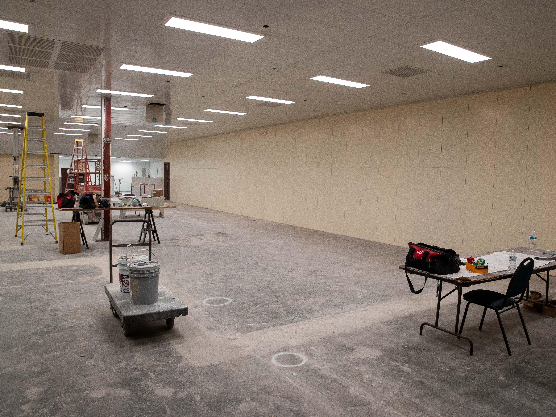 The Mckinzie jail annex renovation on Tuesday, Jan. 29, 2019.