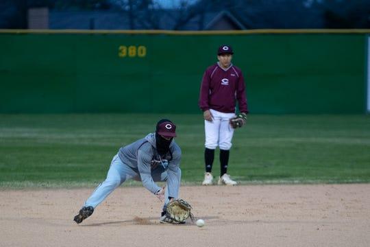 The Calallen baseball team run drills during practice on Wednesday, Jan. 20, 2019.