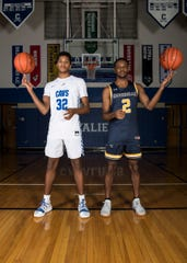Jayvon Maughmer, left, and Branden Maughmer, right, have played basketball together ever since they were young. While the competition between the two brothers always stayed strong, Branden continues to be one of Jayvon's biggest fans as he now plays basketball for Cedarville University.