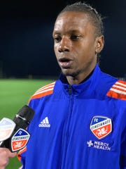 FC Cincinnati forward Darren Mattocks discusses post-match his goal against Montreal Impact and the overall team performance during a match played Wednesday, Jan. 30 at IMG Academy in Bradenton, Florida.