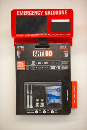 AntiOD provides naloxone within reach. A University of Cincinnati associate professor is leading the effort to get these out in Downtown Cincinnati.