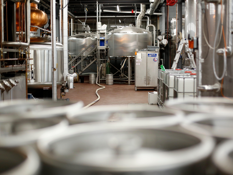 The brewing area at Karrikin Spirits Co. in the Fairfax neighborhood of Cincinnati on Thursday, Jan. 31, 2019.