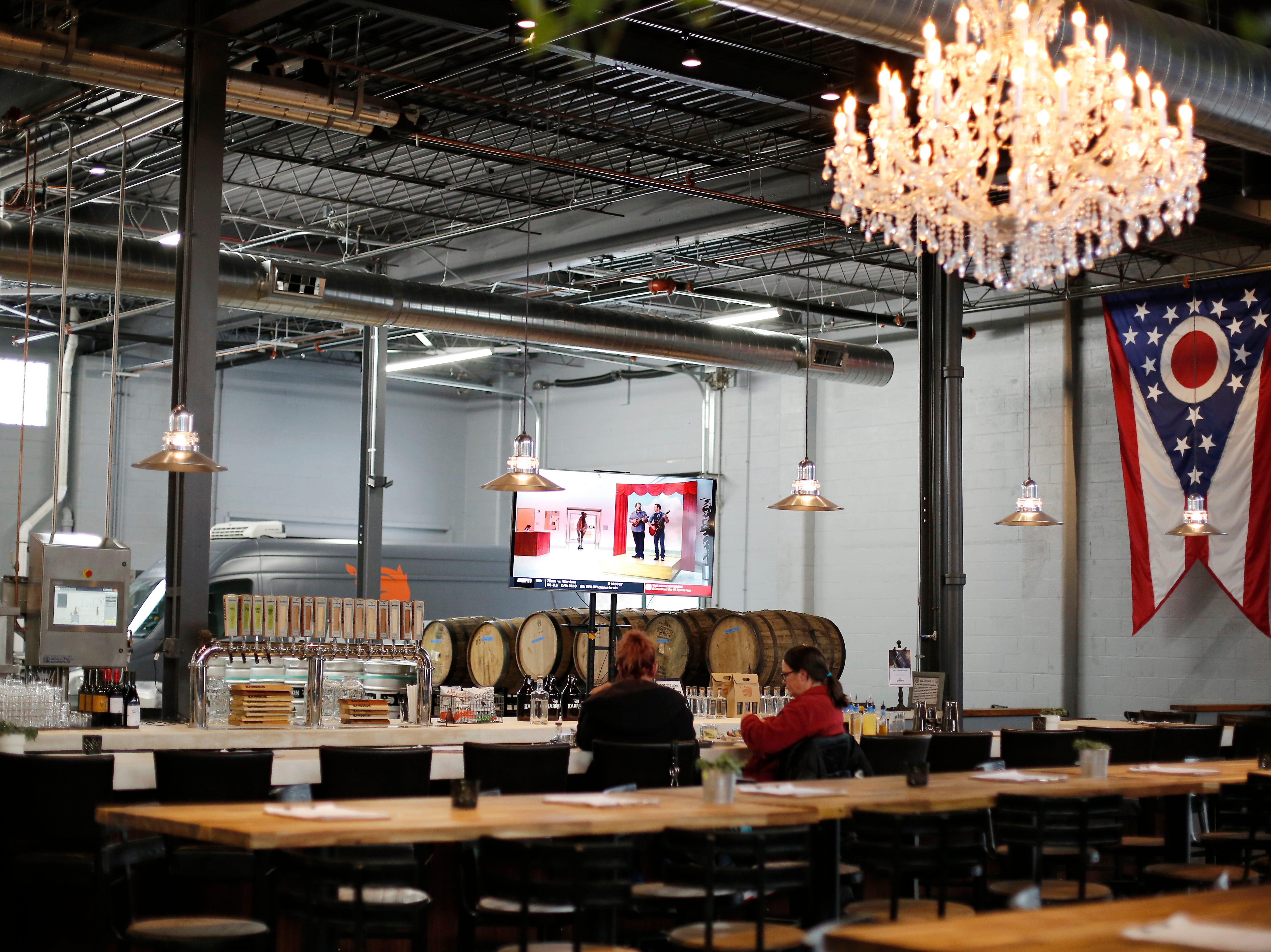 The main dining area at Karrikin Spirits Co. in the Fairfax neighborhood of Cincinnati on Thursday, Jan. 31, 2019.