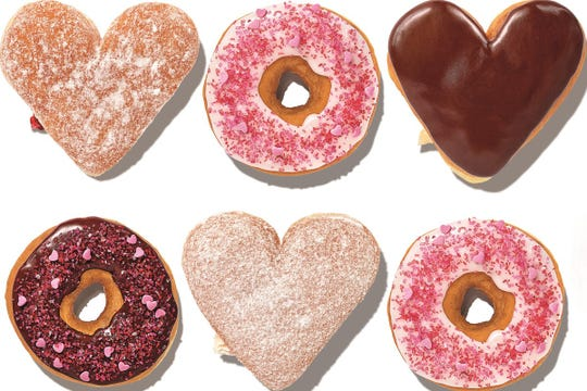 Dunkin' Donuts are bringing back heart-shaped doughnuts.