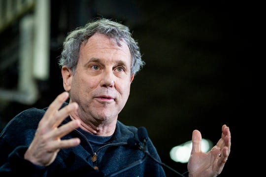"""Senator Sherrod Brown launches his """"Dignity of Work"""" tour at Supply Side USA in Brunswick, Ohio Wednesday, January 30, 2019. The tour includes Iowa, New Hampshire, Nevada and South Carolina."""
