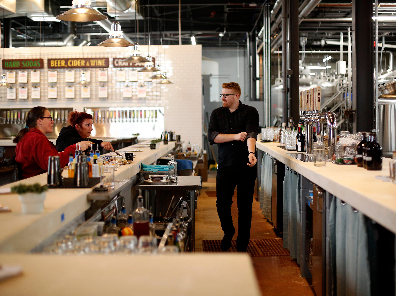 The main bar at Karrikin Spirits Co. in the Fairfax neighborhood of Cincinnati on Thursday, Jan. 31, 2019.
