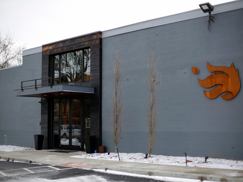The front entrance at Karrikin Spirits Co. in the Fairfax neighborhood of Cincinnati on Thursday, Jan. 31, 2019.