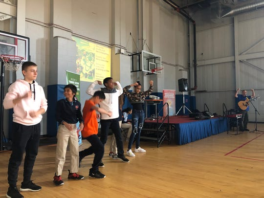 Thomas Edison EnergySmart Charter School host the lean green cleanup machine