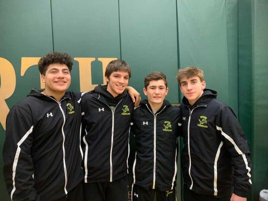 The North Hunterdon senior starters (left to right) Lorenzo Becerril, Michael Wilson, Connor Robinson, Luke Hanlon