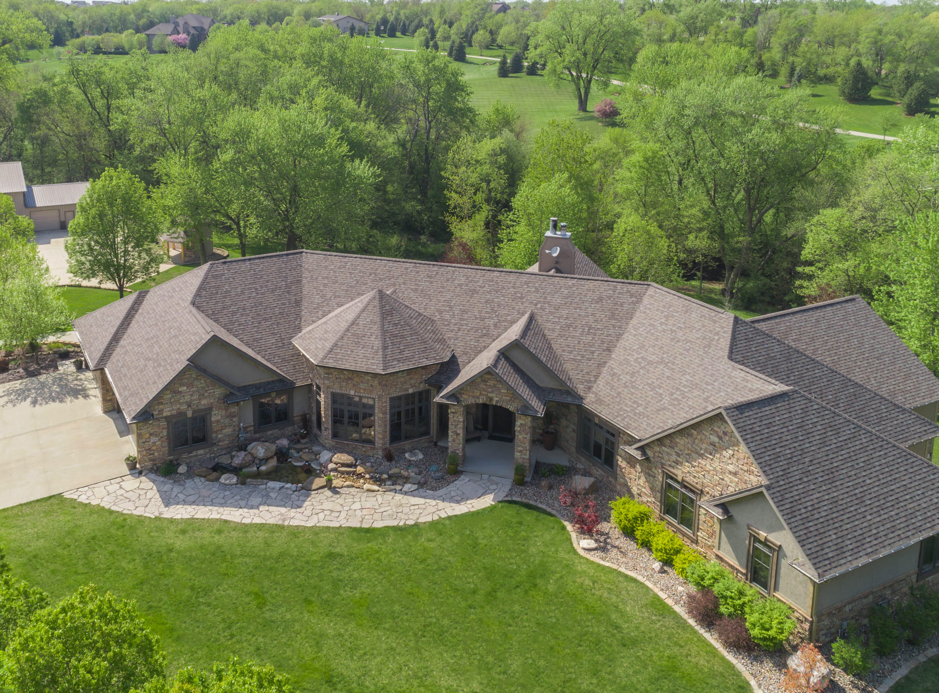 This home on Northwest 100th Street in Johnston sold for $1.3 million in 2018. It sits on three acres and has a 10-car garage, as well as a steel building with a wash bay, office and two additional bays for RV and boat storage.