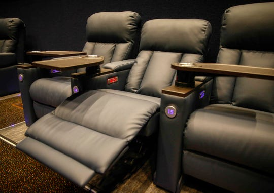 Luxury reclining chairs feature two levels of heated seating at the Palms Theatres and IMAX, which will be opening soon in Waukee.