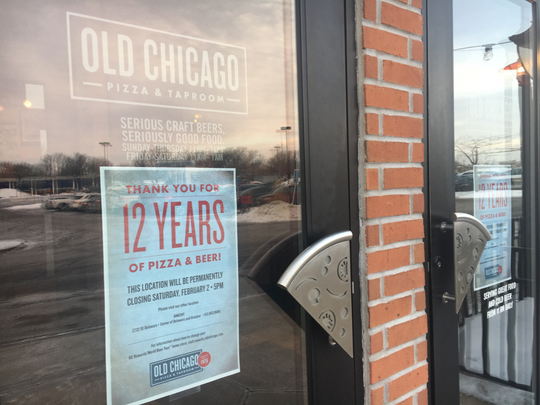 Old Chicago at Merle Hay Mall is closing its doors after 12 years of business.