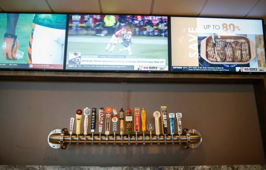Several area brews on tap are available at the Palms Theatres and IMAX, which will be opening soon in Waukee.