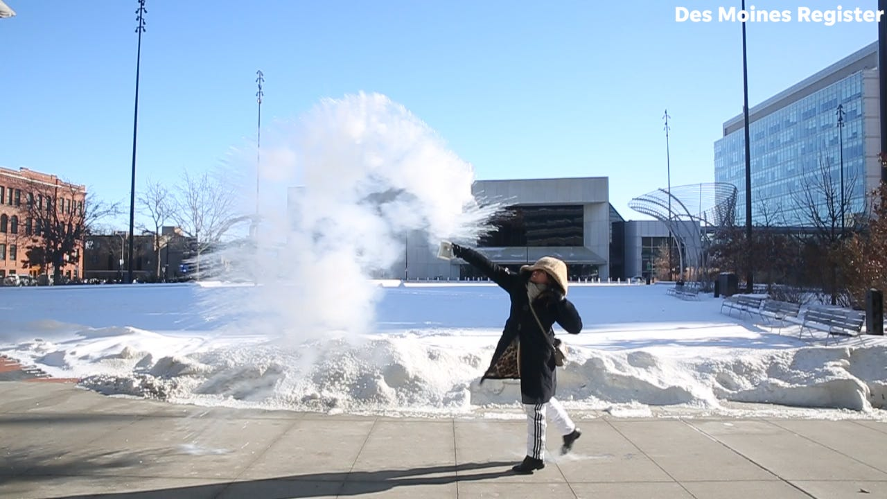 Watch: Experiments you can do in Iowa's bitter cold