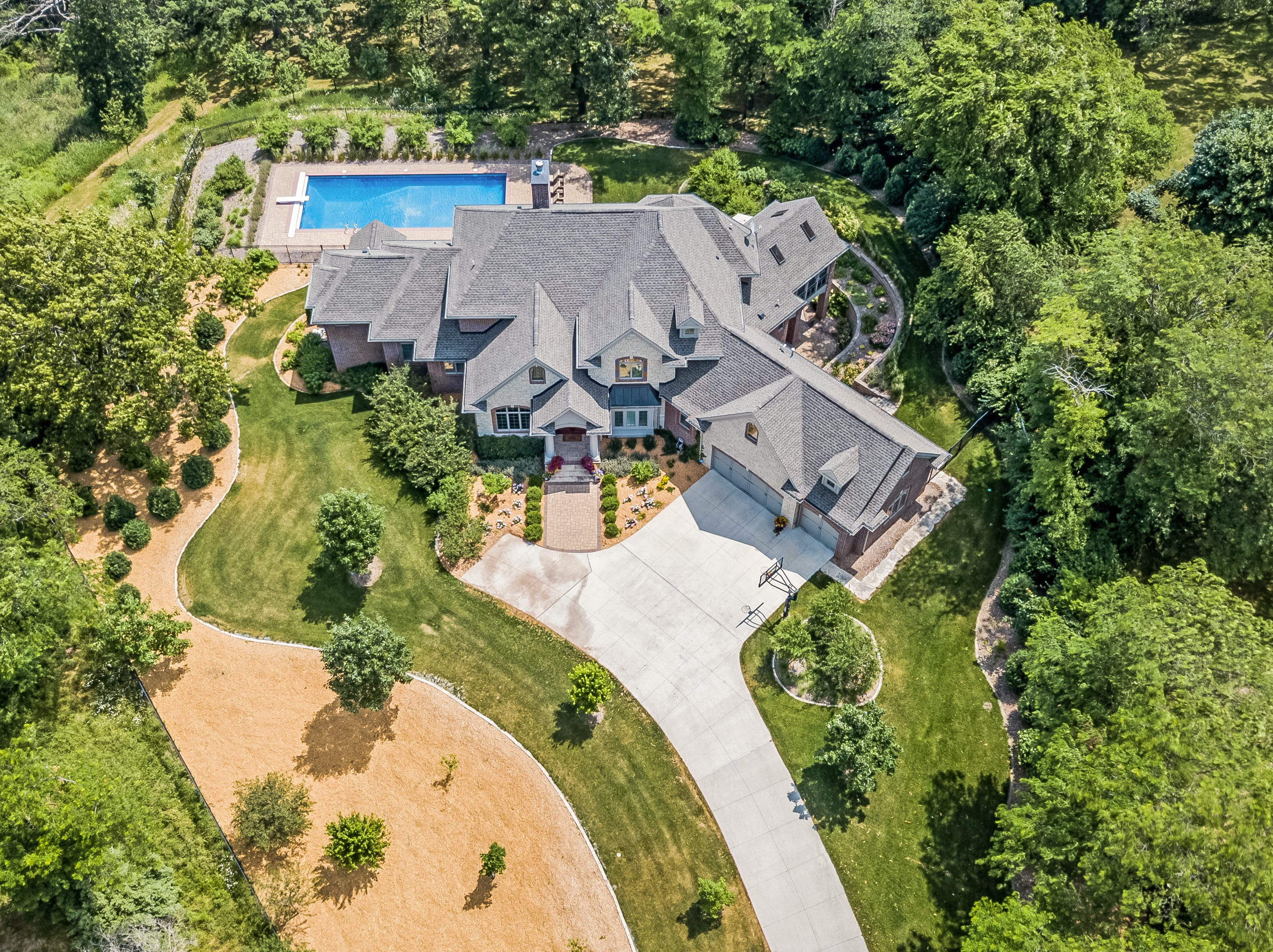 This home on Red Oak Lane in Cumming sold for $1.64 million in 2018. It has five bedrooms, six bathrooms and a salt water pool.
