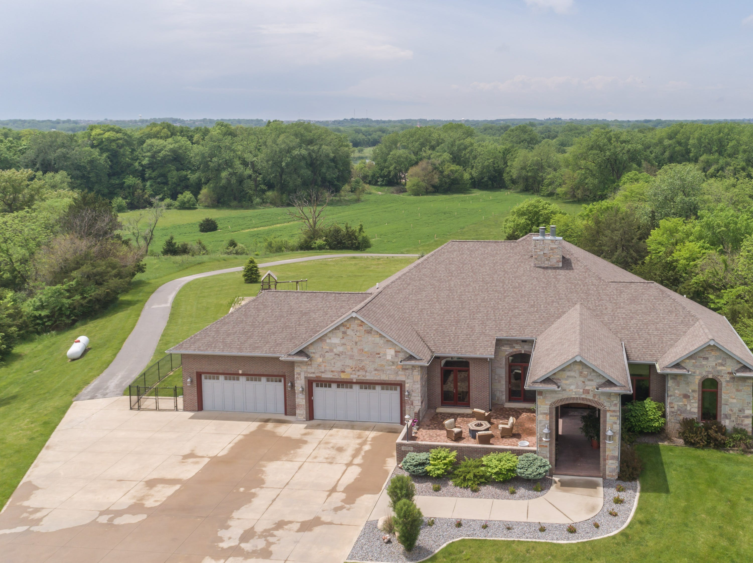 This home on Ridge Road in Adel sold for $1.6 million in 2018. It has four bedrooms, three bathrooms and sits on 21 acres bordering the Raccoon River and Hillcrest Golf Course.