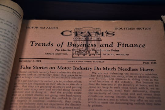 A 1924 edition of Cram's Confidential, the publication that evolved into Wards Automotive Reports.