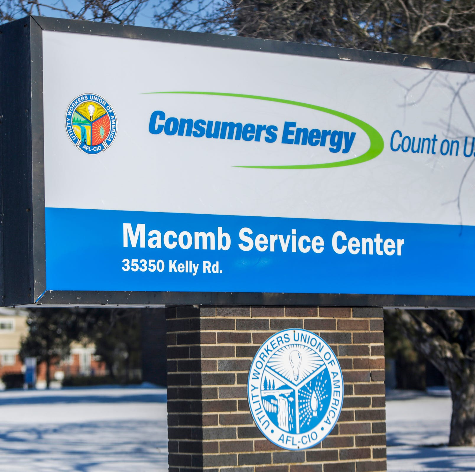 The service center for Consumers Energy in Clinton Twp. on Thursday, Jan. 31, 2019. Consumers Energy sent out a text alert asking the public to turn their thermostats to 65 degrees due to strains on their natural gas resources.