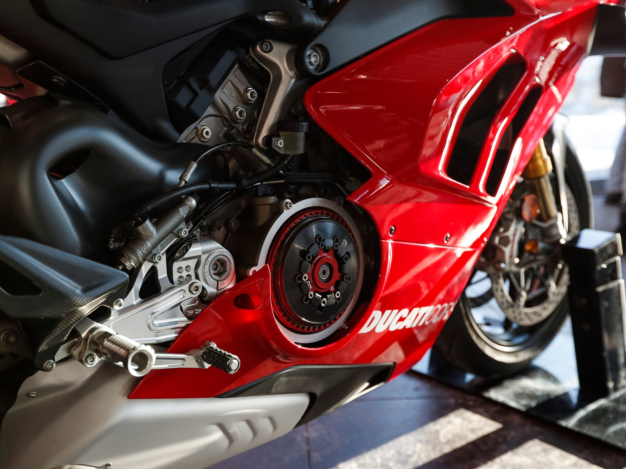Ducati 2019 Panigale V4 R was on display at Ducati Detroit in Birmingham, Wednesday, Jan. 30, 2019.