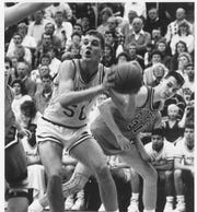 Steve Honderd plays for Calvin College against Hope College in this undated file photo.
